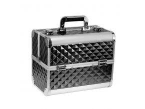 Kozmetický kufrík SENSE - 3D diamonds, čierny