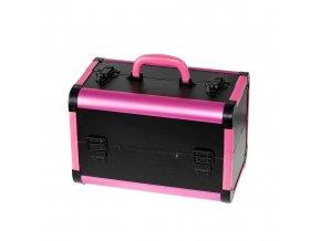 Kosmetický kufřík SENSE - leather, černo-růžový