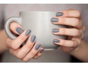 Lak na nechty s matujúcim efektom - Grey Cement