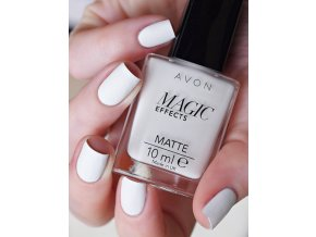 Lak na nechty s matujúcim efektom - White
