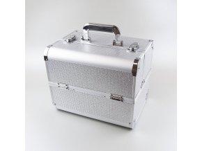 Kosmetický kufřík SENSE - glitter, stříbrný