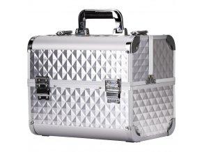 Kosmetický kufřík DIAMOND stříbrný