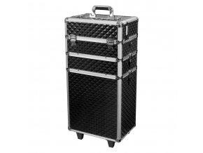 Velký kosmetický kufr SENSE 3v1 -3D diamonds, černý