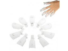 Klipsy na odstranění gel laku 10 ks - bílé