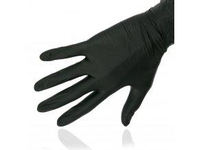 Rukavice nitrilové bez pudru (100ks) - černé, L