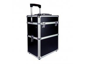 Kosmetický kufr s odnímatelnými koly - černý