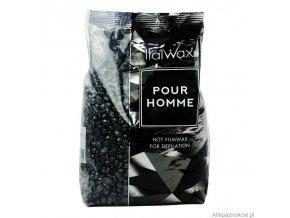 Italwax depilační vosk zrnka Pour Homme Black 1 kg