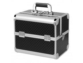 Kosmetický kufr LUXURY - s popruhem, černý