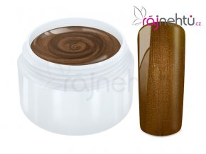 Ráj nehtů Barevný UV gel METALLIC - Brown 5ml