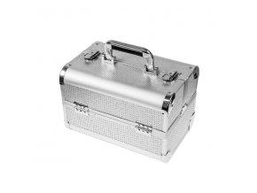 Kosmetický kufřík SENSE - glitter, stříbrný, malý