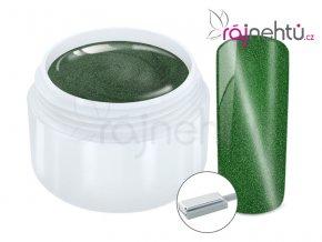 Ráj nehtů Barevný UV gel CAT EYE MAGNET - Green 5 ml