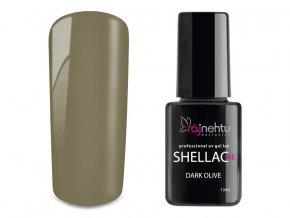 UV gel lak Shellac Me 12ml - Dark Olive