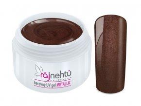 Ráj nehtů Barevný UV gel METALLIC - Chocolate 5ml