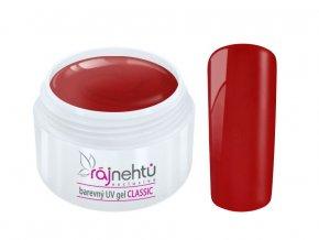 Ráj nehtů Barevný UV gel CLASSIC - Red 5ml