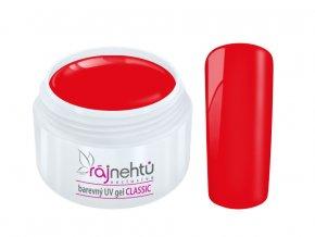 Ráj nehtů Barevný UV gel CLASSIC - Light Red 5ml