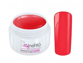 Ráj nehtů Barevný UV gel CLASSIC - Old Red 5ml