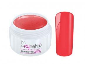 Ráj nehtů Barevný UV gel CLASSIC - Strawberry 5ml