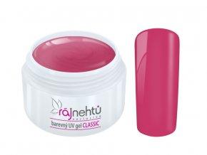 Ráj nehtů Barevný UV gel CLASSIC - Fuchsia Red 5ml
