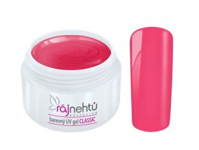 Ráj nehtů Barevný UV gel CLASSIC - Rosy Pink 5ml