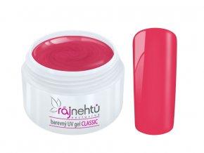 Ráj nehtů Barevný UV gel CLASSIC - Fire Red 5ml