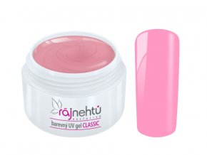 Ráj nehtů Barevný UV gel CLASSIC - Pale Rose 5ml