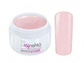 Ráj nehtů Barevný UV gel CLASSIC - Powder Pink 5ml