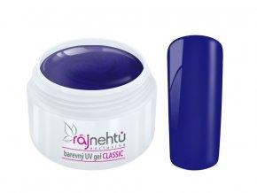 Ráj nehtů Barevný UV gel CLASSIC - Blue 5ml