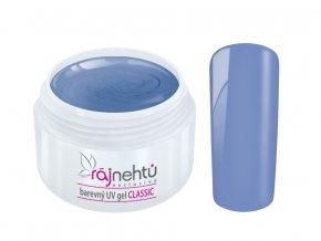Ráj nehtů Barevný UV gel CLASSIC - Grain Blue 5ml