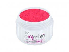 Ráj nehtů - Akrylový prášek NEON - Pink Red 5g