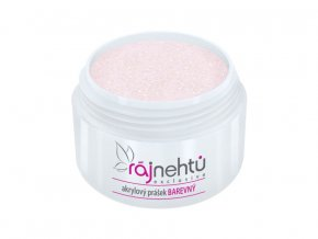 Ráj nehtů - Akrylový prášek GLIMMER - Light Pink 5g