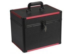 Kosmetický kufřík LUXURY - černá/červená