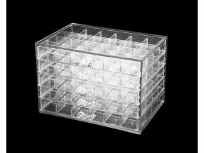 Akrylový organizér - 120 přihrádek