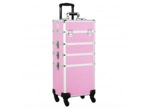 Kosmetický kufr LUXURY 4v1 - růžový