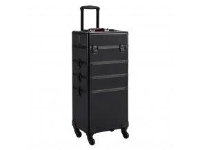 Kosmetický kufr LUXURY 4v1 - černo-černý