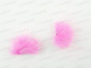 Brmbolčeky 2 ks - svetlo ružové