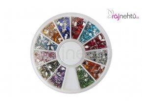 Farebné kamienky v karuseli - mix farieb a tvarov