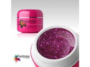 Farebný UV gél Fantasy Glitter 5g - Flamingo