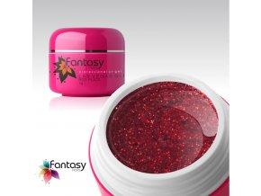Farebný UV gél Fantasy Glitter 5g - Red Plaza