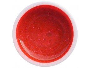 Farebný UV gél GABRA 7,5 ml - glitter červený neón