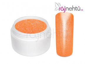 Farebný UV gél GLIMMER - Neon Orange - 5ml