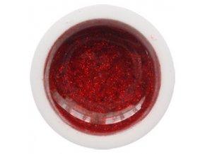 CEDRO sole - Farebný UV gél GLITTER - Červený - 5 ml