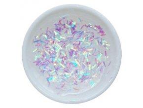 CEDRO sole - Farebný UV gél GLITTER - Číry s dúhovými holografickými niťami - 5 ml