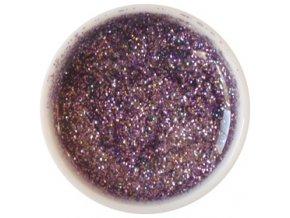 CEDRO sole - Farebný UV gél GLITTER - Fialový - 5 ml