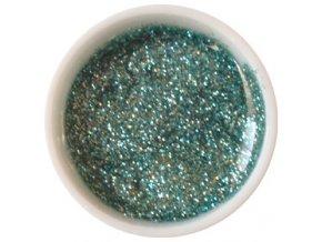 CEDRO sole - Farebný UV gél GLITTER - Ľadovo zelený - 5 ml