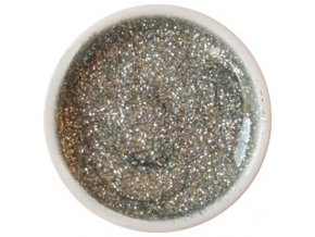CEDRO sole - Farebný UV gél GLITTER - Strieborný - 5 ml