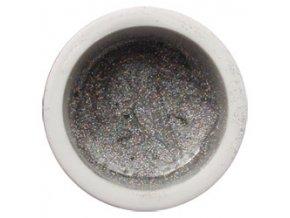 CEDRO sole - Farebný UV gél GLITTER - Strieborný mix - 5 ml