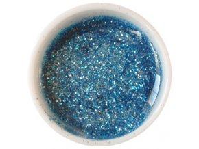 CEDRO sole - Farebný UV gél GLITTER - Tyrkysovo modrý - 5 ml