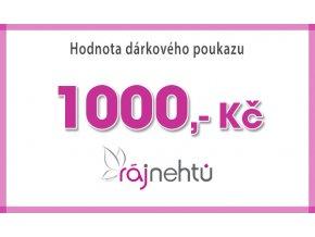 Darčeková poukážka 1000,- Kč