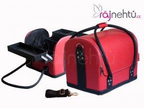 Kozmetický kufrík - červeno-čierny