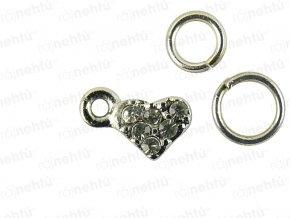 Ozdoba nechtov - Piercing mini heart
